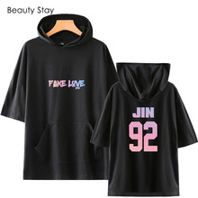 88b8105ac New Arrival BTS Fake Love Women Hooded Tshirt Pure Cotton Thermoprint  Letter Hoodies Plus Size Loose