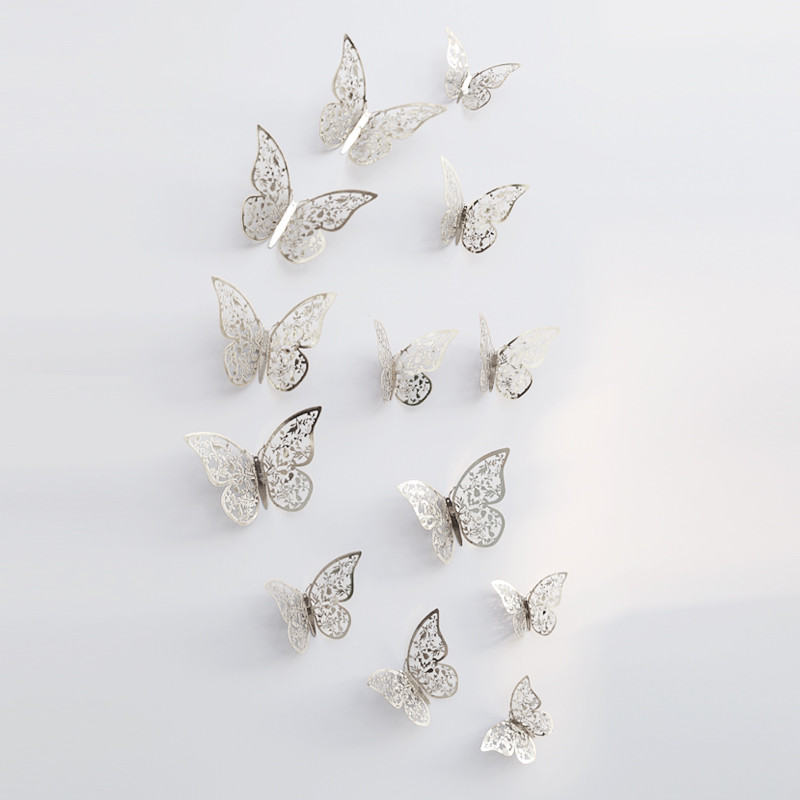 Patterned 3D Butterfly Wall Stickers Set