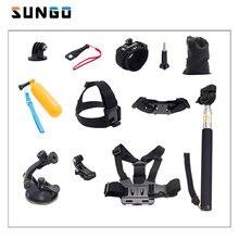 SUNGO HEAD STRAP SELFIE STICK CHEST STRAP CAR SUCTION CUP ction Cam Accessories Set for sjcam