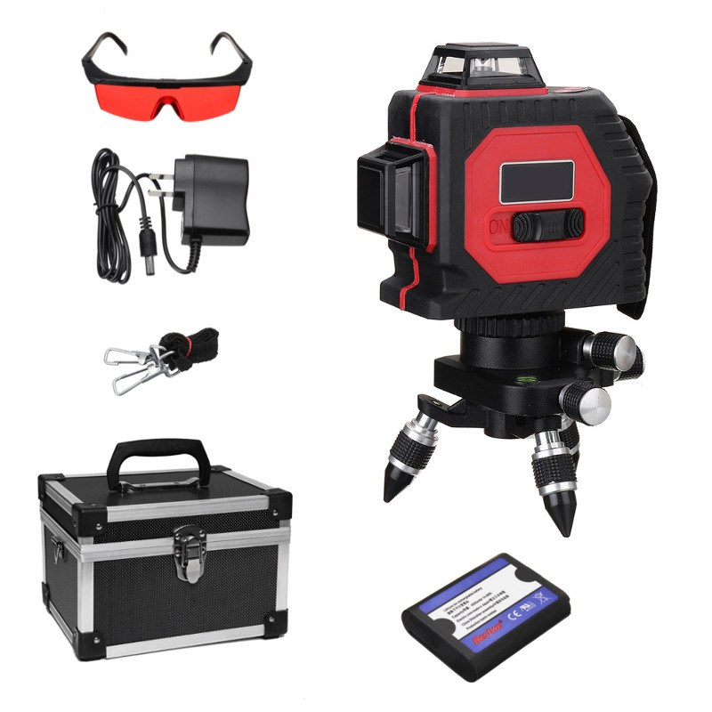 Hot 638nm 8 Line 3D Laser Auto Self-Leveling 360 Horizontal Vertical Cross Red line Indoor/Outdoor Cross Laser Level Tools red 8 lines 4v 4h self leveling 360 degrees auto level cross laser line laser level with out button for brighter laser line