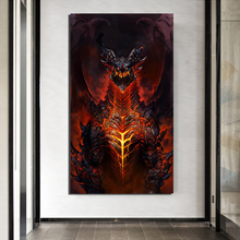 World Of Warcrafts Game Poster Canvas Painting Print Living Room Home Decoration Artwork Modern Wall Art Oil Picture HD