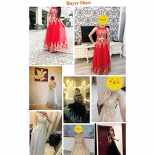 Gold Sequin Dress Sleeveless Rhinestone Evening Gowns Dark Red Prom Dress Long Elegant Party Dresses Beading Formal Gown GT52