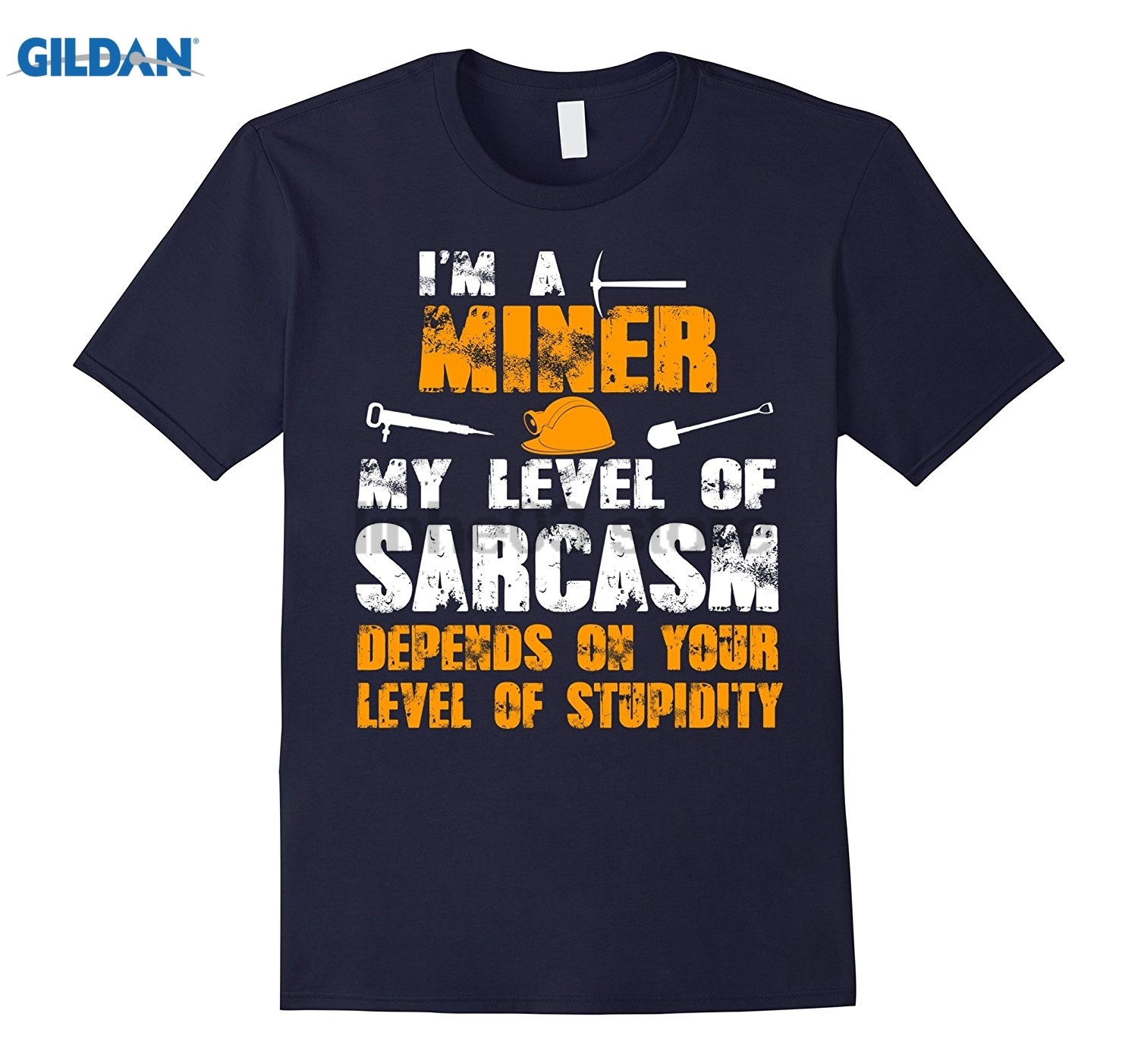 GILDAN Miner Sarcasm Depends On Your Stupidity sunglasses women T-shirt