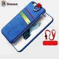 100% baseus original caso carteira de couro para o iphone 6 4.7 tampa traseira com carro para iphone 6 s plus + embalagem de varejo + cordão