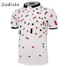 GODLIKE 2017 males's lapel Polo shirt/style leisure Polo/enterprise version short-sleeved shirt