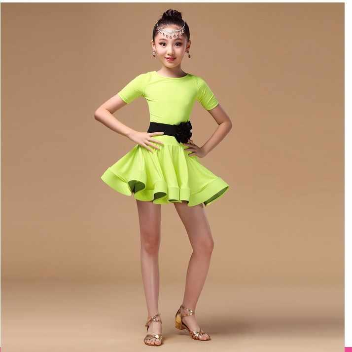 Девочки; дети Satandard Латинской конкуренция платье Дети современный танец бальные сальса Румба Танго Самба ча-ча костюмы
