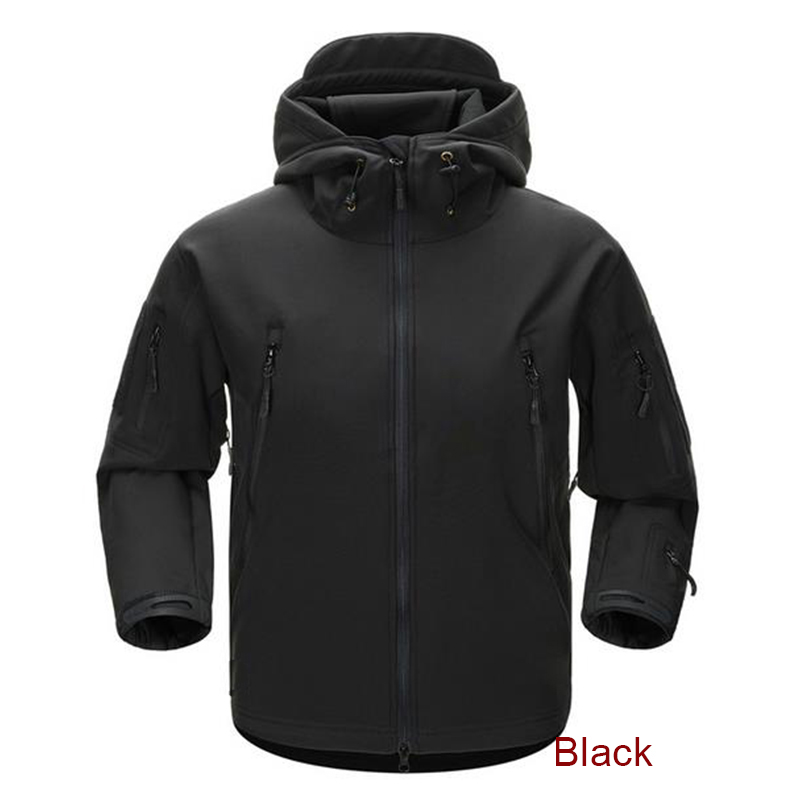 ESDY Men Outdoor Jacket Water resistant Luker TAD Coat Shark Skin Soft Shell Hoodie Hunting Duty
