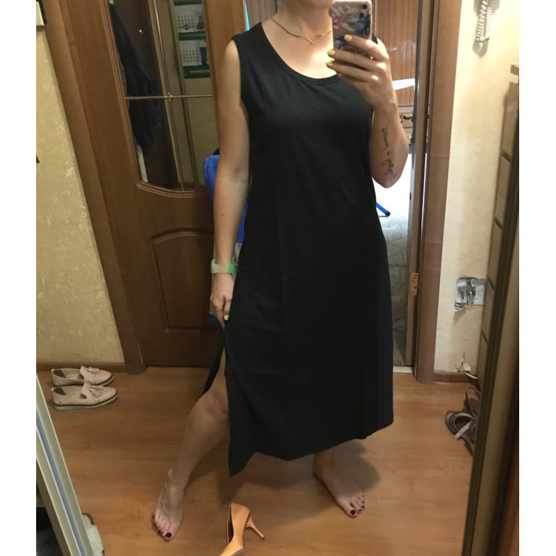 1b93677944 Maxi Sleeveless Dress Women Summer Autumn Casual Beach Party Vintage Club  Sexy Jurken Boho Long Black Bodycon Dresses Plus Size | Hot Selling Products