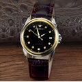 WHATCH mens Mecánico Automático del reloj de Los Hombres Relojes de Moda De Cuero de calidad superior famosa marca reloj militar a prueba de agua caballo