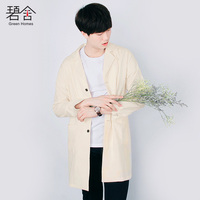 S 3XL!!! 2018 The new linen shirt han edition leisure men's cotton and linen shirt contracted type handsome tide temperament go