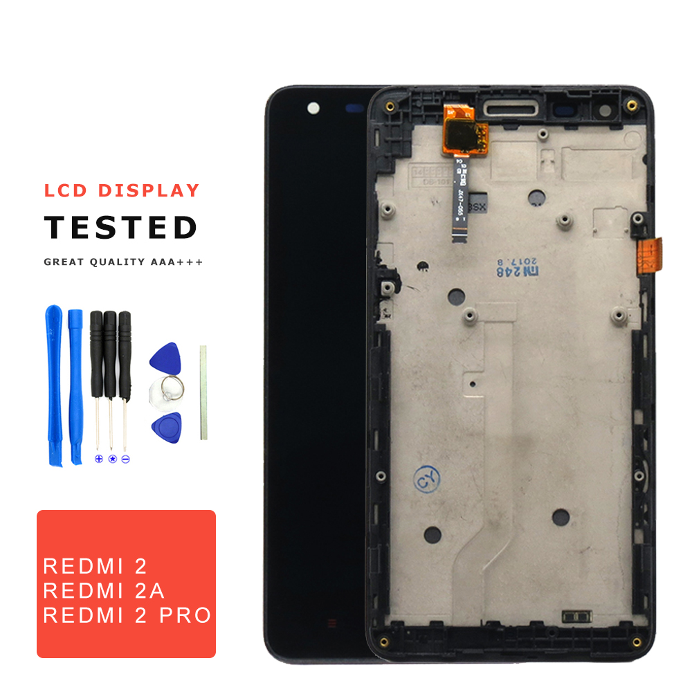 For Xiaomi Redmi 2 Lcd Display Digitizer Touch Screen With Frame Prime Replacement Pro 2a Phone Parts Free Tools In Mobile Lcds From