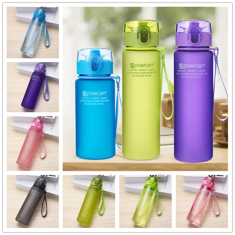 Sports Water Bottle 400/560ML Protein Shaker Outdoor Travel Portable Leakproof Tritan Plastic Drink Bottle for Water  Cup.j|Water Bottles| |  - AliExpress