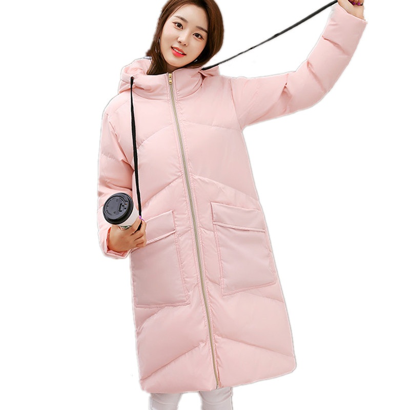 Winter Hooded High Quality Medium-long Padded Jacket Women Solid Color Cotton Parka Large Size Loose Female Women Coat TT3230 super long dildo 420 50mm horse dildos with strong suction cup huge anal dildo female massage sex toys for women fake penis