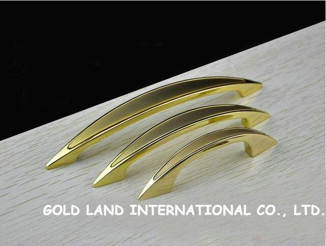 128mm Free shipping 24K golden color furniture handle
