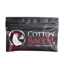 1Pack arrival high quality Cotton Bacon rda cotton For RDA RBA Atomizer e cig DIY Electronic Cigarette Heat Wire Organic cotton(China)
