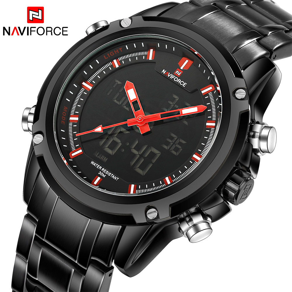 New Luxury Brand LED Digital Watches Men Quartz Hour Clock Fashion Sports Full Steel Man Military Wrist Watch Relogio Masculino ybotti luxury brand men stainless steel gold watch men s quartz clock man sports fashion dress wrist watches relogio masculino