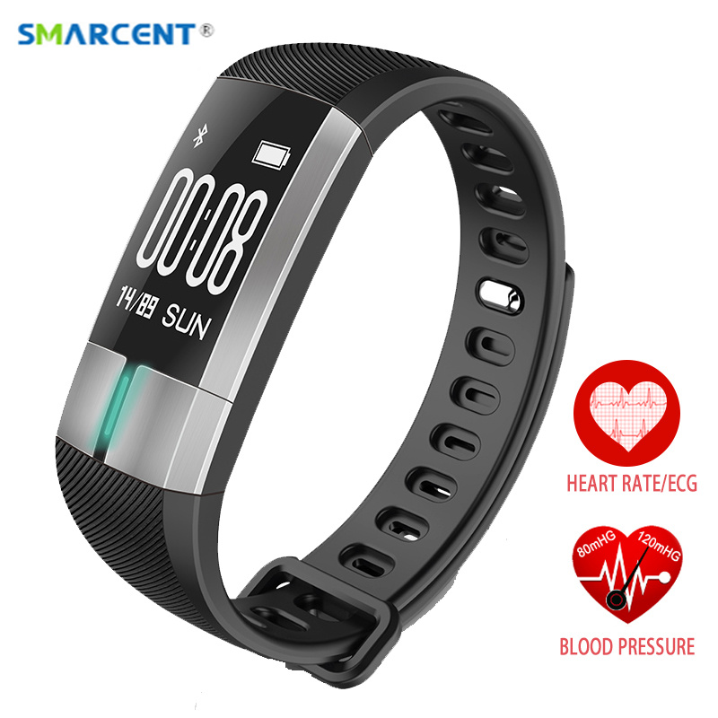 Smarcent R20 ЭКГ контроля в реальном времени артериального давления сердечного ритма спортивные Смарт-фитнес часы-браслет интеллектуальные тре...