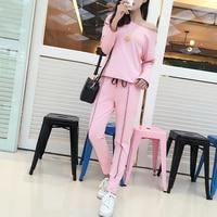 2019 Autumn Tracksuit Women Sweatshirt+Pant Track suit 2 Piece Set Sporting Suit for women spring pink two piece sets for women