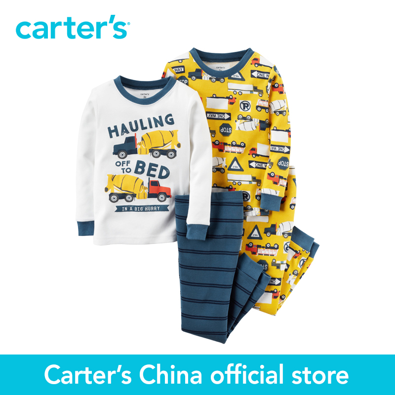 Carter's 4 pcs baby children kids Snug Fit Cotton PJs 321G227, sold by Carter's China official store carter s 1 pcs baby children kids long sleeve embroidered lace tee 253g688 sold by carter s china official store