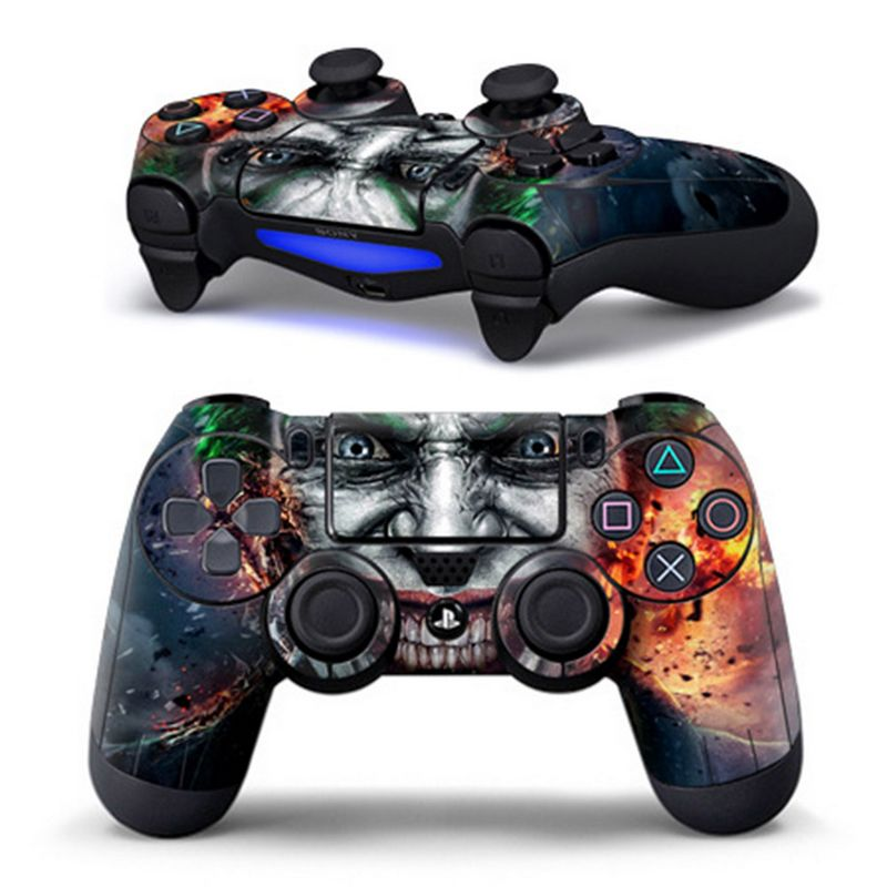 Stickers Gamepad Controller Skin-Decor Logo Playstation PS4 Dual-Shock Wireless for Zombie