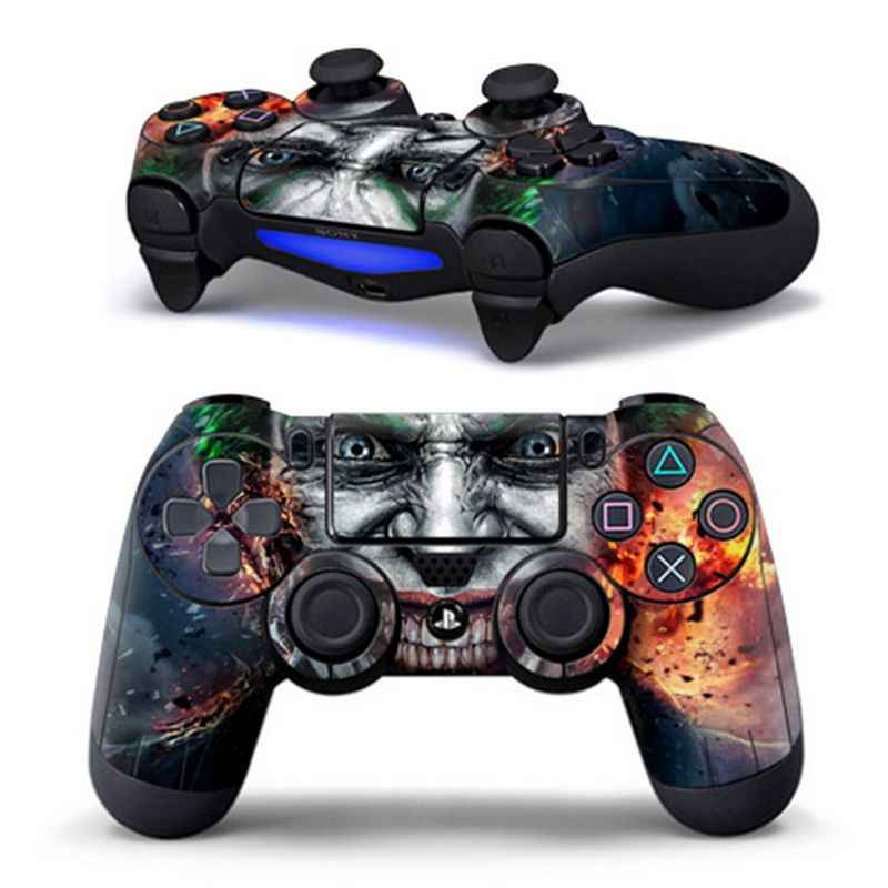 For Dual Shock Wireless Controller Skin decor Zombie logo Stickers for PS4 For PlayStation 4 Controller gamepad joystick decor
