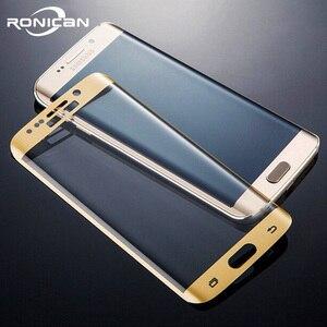 Image 1 - RONICAN S6 edge полное изогнутое 3D закаленное стекло Защита для экрана Защитная пленка Pelicula de vidro для Samsung Galaxy S6 Edge plus