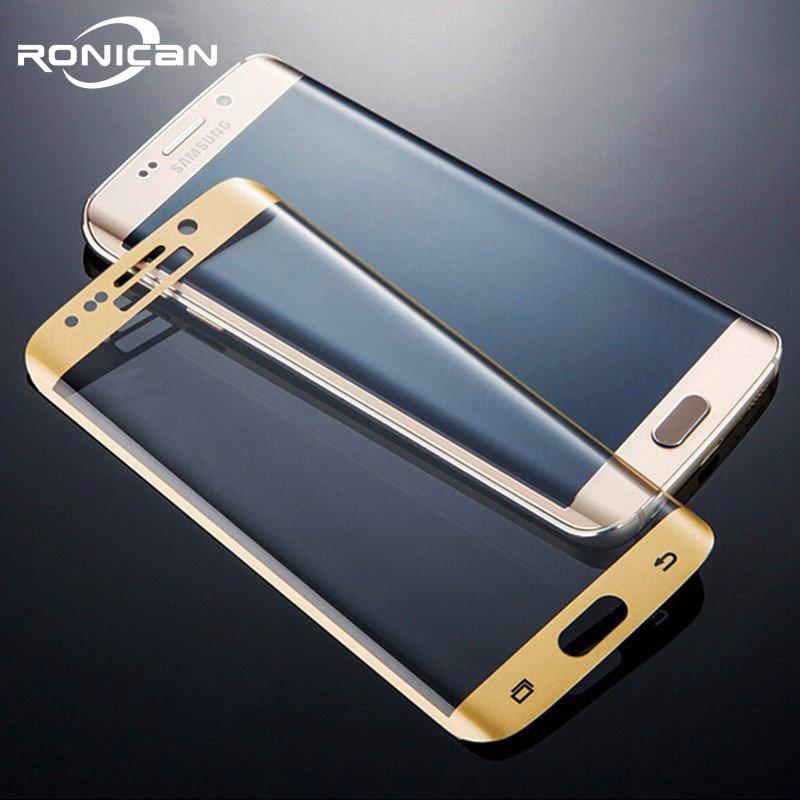 RONICAN S6 edge entièrement incurvé 3D verre trempé protecteur d'écran Film de protection Pelicula de vidro pour Samsung Galaxy S6 Edge plus