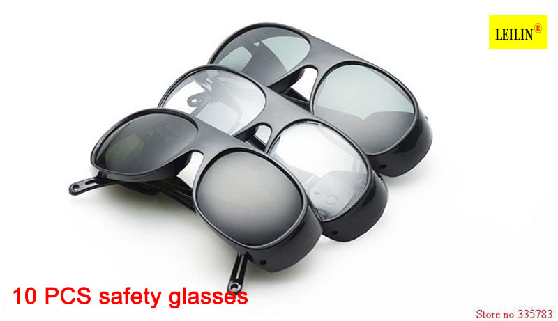 10PCS Safety Goggles Plant-specific anti-impact glasses protective labor welding glasses wind mirror eyewear Optical glass lens sperian 110110 s600a streamlined anti impact safety glasses working glasses c100505