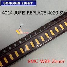 4000 stücke 4014 Ersetzen 4020 SMD LED Perlen Kalt weiß 0,5 W 1W 3V 6V 150mA Für TV/Lcd hintergrundbeleuchtung Led hintergrundbeleuchtung High Power LED emc pct
