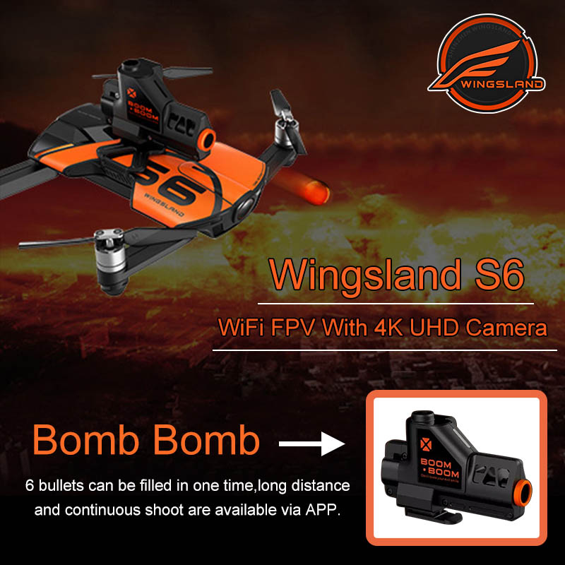 Wingsland S6 Pocket Drone RC Quacopter WiFi With 4K HD Camera Avoidance Obstacle