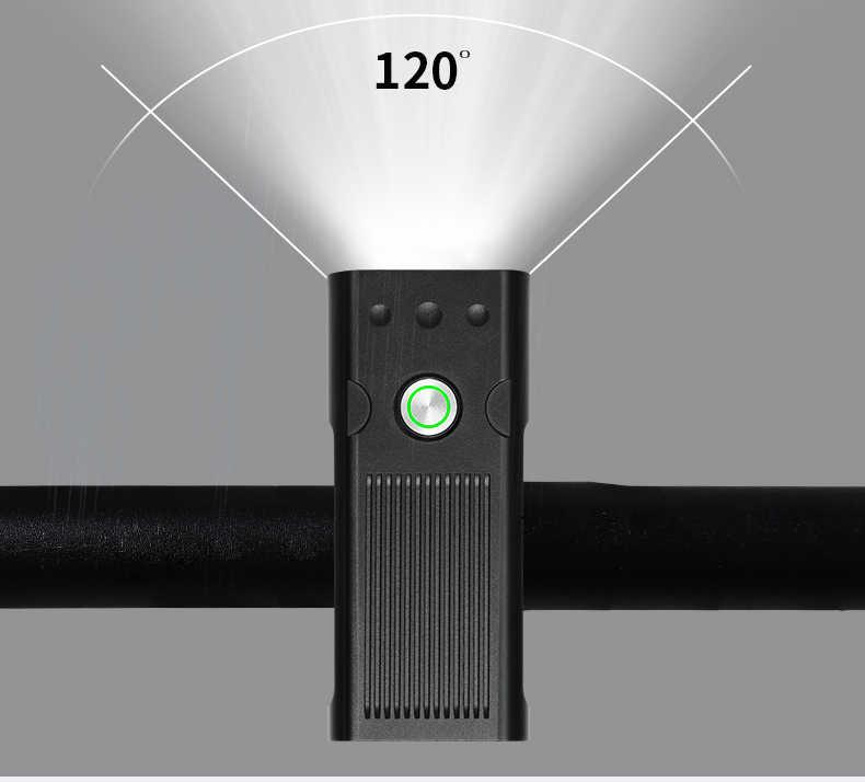 20000Lums vélo lumière L2/T6 USB Rechargeable 5200mAh vélo lumière IPX5 phare LED étanche comme batterie externe vélo accessoires