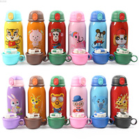 Portable Cartoon Children's Straw Bottles Thermos Tour Bottles with Straw Stainless Steel Water Bottle Perfect Gift for Kids