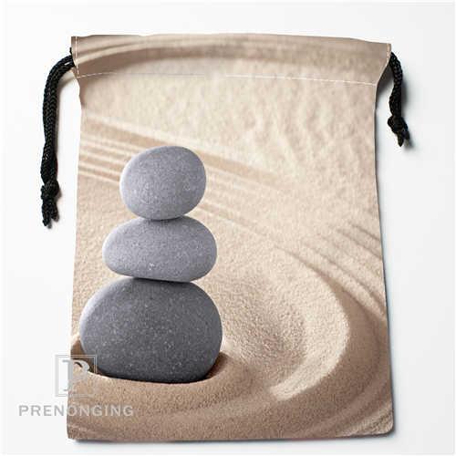 Custom Stone Flower@01 Drawstring Bags Printing Fashion Travel Storage Mini Pouch Swim Hiking Toy Bag Size 18x22cm #171208-14