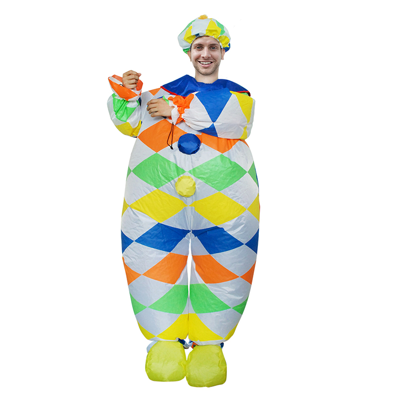 New Arrival Inflatable Clown costume Women Men Girls Sexy Halloween Costumes Funny Party Dress