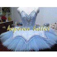 Высокое Качество Индивидуальный заказ светло голубой блеск украшения балетное платье с трико, Балетные Костюмы Одежда блин Балетные костю
