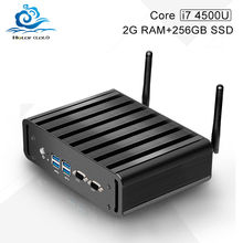 High performance mini pc core i5 4700u desktop computer Dual lan 2*Com  2G ram 32G ssd with wifi usb 3.0 hdmi+vga