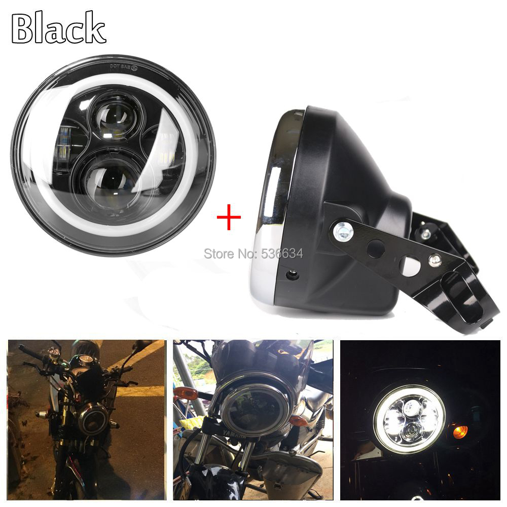 7 inch led Projector headlight Daymaker DRL With Headlamp Shell or Lamp Shell for Harley Davidson Softail Slim