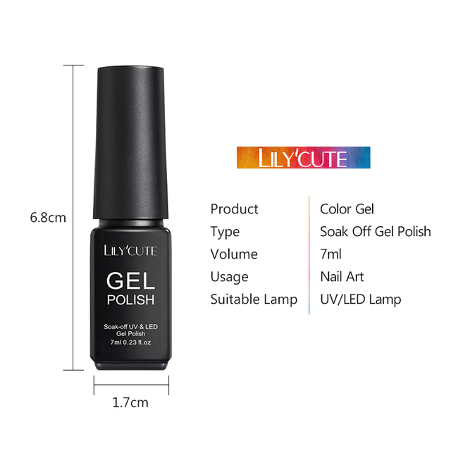 LILYCUTE Nail Gel Polish 7ml