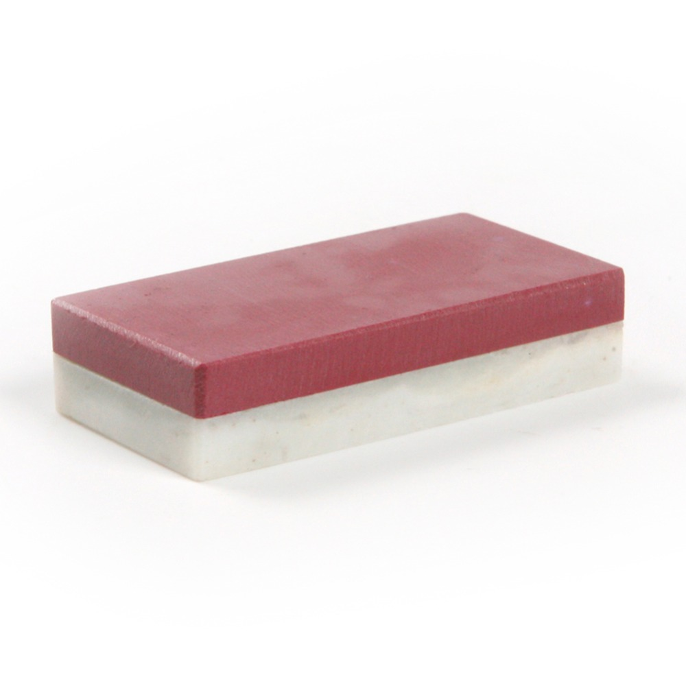 Two-side Ruby Natural Agate Knife Sharpener Oilstone Whetstone Polishing Stone