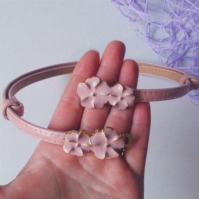 Sweet cute Flowers women's belts brand skirt belt dresses for girls riem LIC 2018 high quality female casual leather belt Y003 3