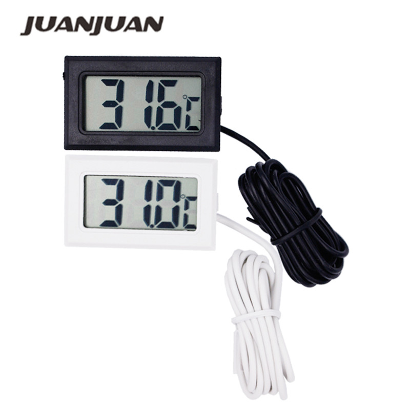 200pcs lot by dhl or fedex Digital LCD Temperature Meter Thermometer Sensor LCD 50 110C 10