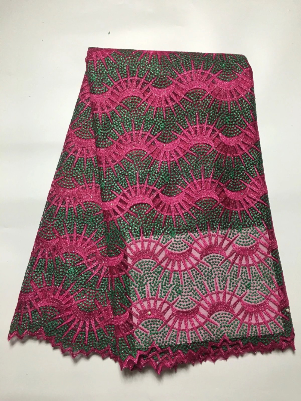 Lace Tribe Wholesale Nigerian Lace Fabric 2016 French Lace Beaded Mesh Tulle French Lace Fabric Latest Net Tulle Lace For Women JYF57