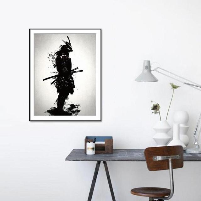 Samurai Poster Living Room Unframed Wall Art Canvas Painting Print Posters Prints Pictures Vqv6066