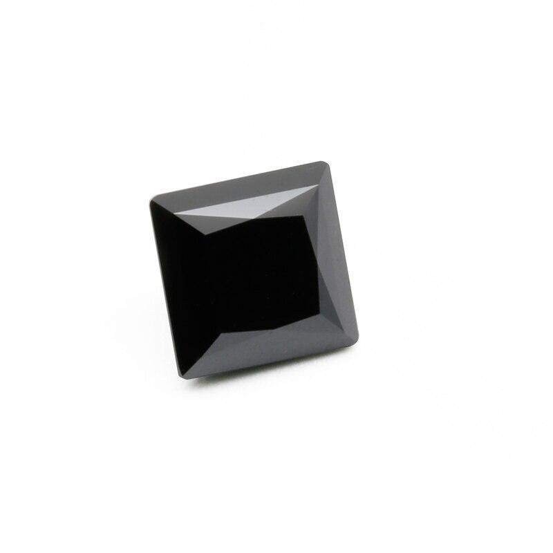 7*7mm black color square princess cut moissainte stone 7mm page 7