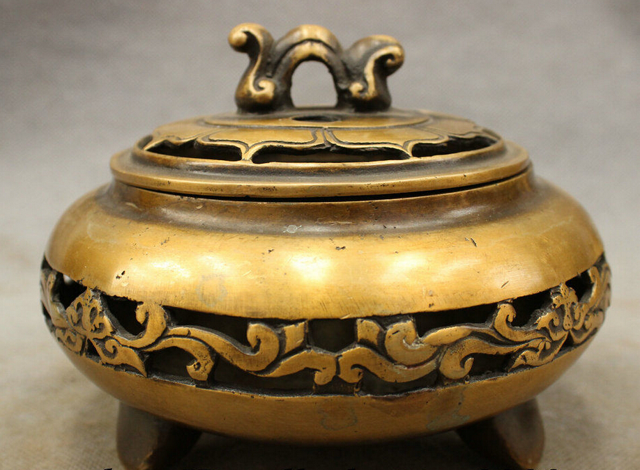 Chinese Bronze Copper FengShui Unicorn Phoenix Statue Box Incense Burner Censer censer burner censer incense burner censer incense - title=