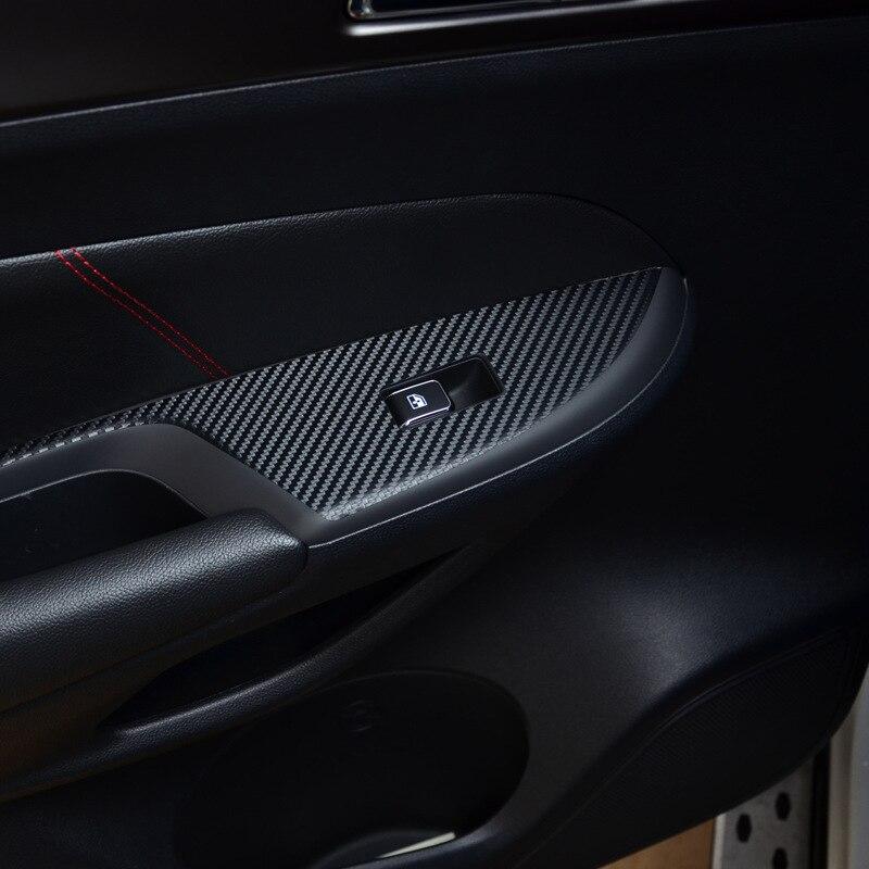 127cm*10cm Carbon Fiber Vinyl Film Car Stickers Waterproof Car Styling Wrap For Auto Vehicle Detailing accessories