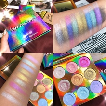 Internet celebrity Make Up 9 Colors Eye Shadow Palette Shimmer Matte Glitter Eyeshadow Amazing colorful Pigment