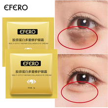 EFERO 10pcs Collagen Eye Cream Deep Repair Moisturizing Nourishing Anti Wrinkle Aging Bags Removal Skin Care
