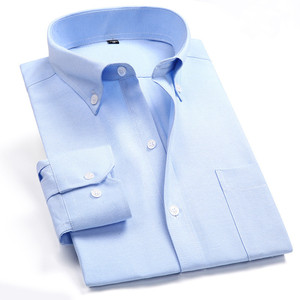 Image 2 - Oxford erkek rahat uzun kollu gömlek ekose çizgili 2020 bahar Slim Fit erkek İş elbise gömlek marka rahat nefes