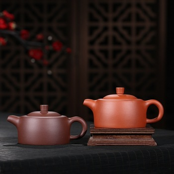 Recommended undressed ore quality goods all handmade pure cement wide GaiHu purple clay teapot gift customization